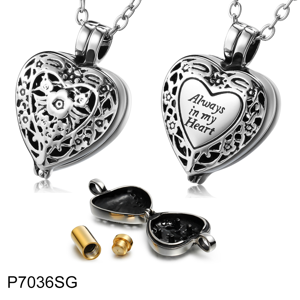 Heart Memorial Urn Locket