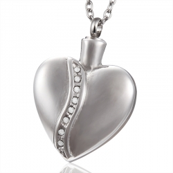 Crystal Heart Urn Jewelry