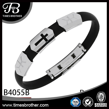 B4055B Leather Bangle