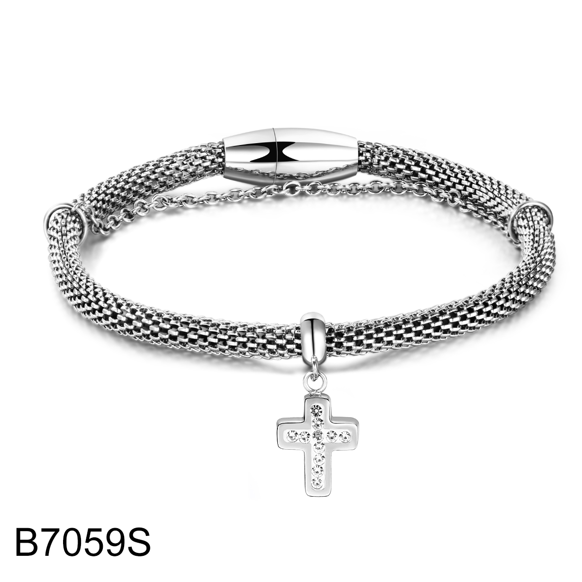 B7059S sliver double chain w...