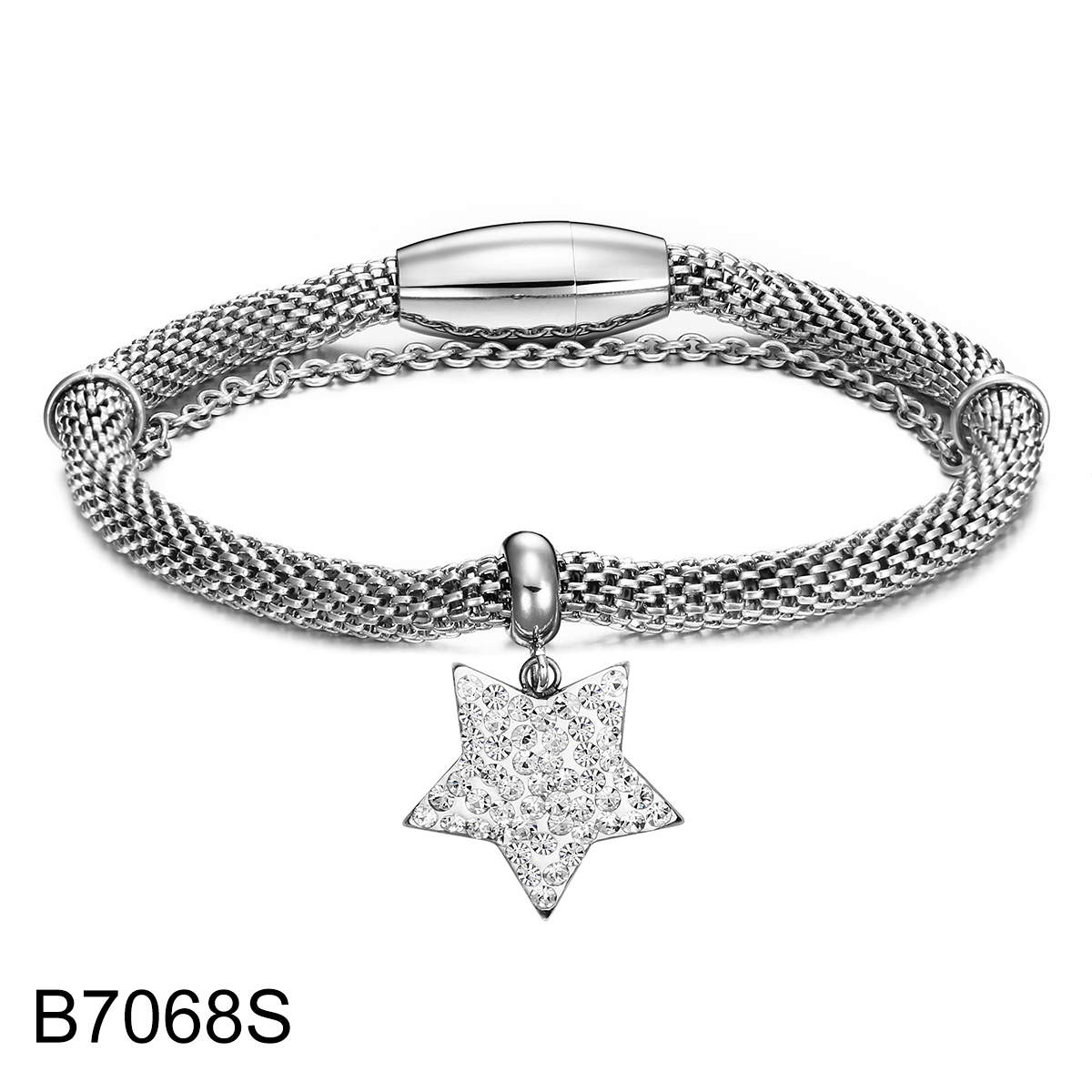B7068S sliver double chain w...