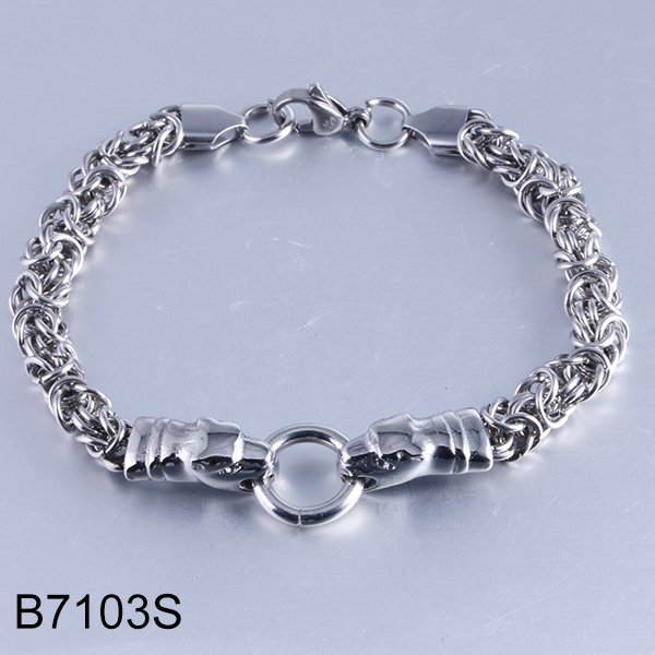 B7103S sliver rope chain wi...