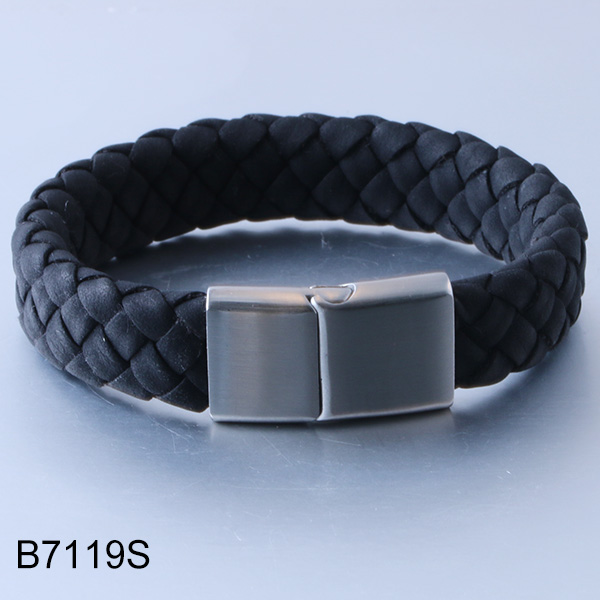 B7119S braided leather magn...