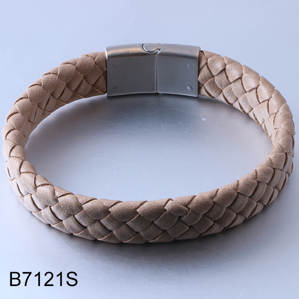 B7121S braided leather magn...