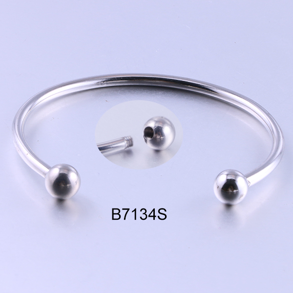 B7134S sliver open beads sta...
