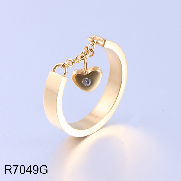 R7049G gold with chain hear...