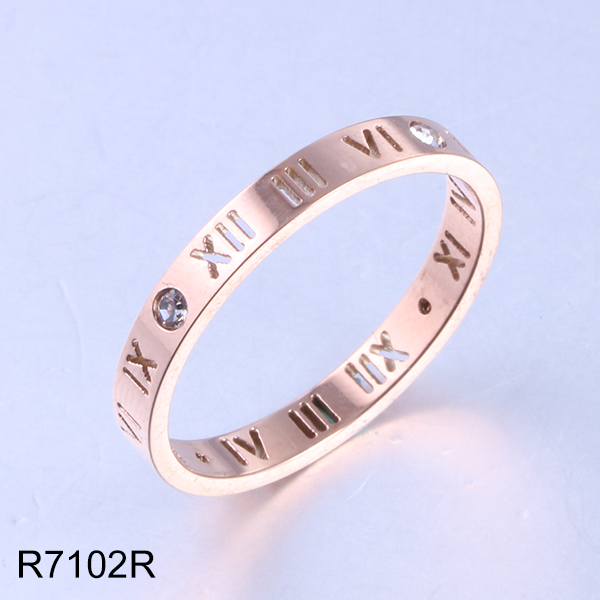 R7102R rose gold hollow rom...