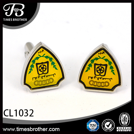 CL1032 heart sliver stainless steel enamel cufflinks for men