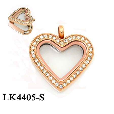 LK4405-S rose gold heart sh...
